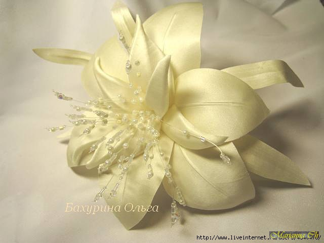 Лилии из ткани